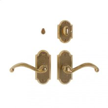 """Arched Privacy Set - 2 1/2"""" x 5 1/2"""" Silicon Bronze Brushed"""