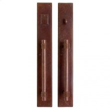 """Stepped Push/Pull Set - 3 1/2"""" x 24"""" Silicon Bronze Brushed"""