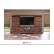 Entertainment Center -  Bridge w/ 4 Drawers, 2 Doors