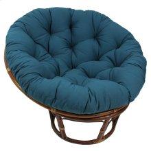 Bali 42-inch Indoor Fabric Rattan Papasan Chair - Walnut/Indigo