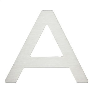 Paragon Letter A - Stainless Steel Product Image