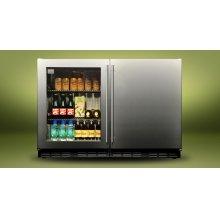 """Kalamazoo 48"""" Outdoor Refrigerator (1 Glass Door + 1 Solid Door)"""