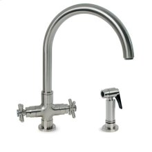 Deco T Kitchen Faucet with Metal Side Spray - Polished Chrome