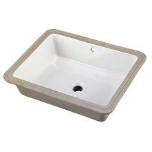 White Wicker Park Rectangular Undercounter Bathroom Sink
