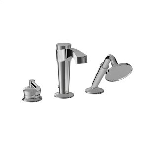 3-piece Deckmount Tub Faucet With Hand Shower - Chrome Product Image