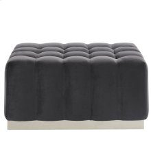 Magnum Rectangular Cocktail Ottoman in Grey & Silver