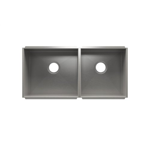 "UrbanEdge® 003657 - undermount stainless steel Kitchen sink , 18"" × 16"" × 10""  15"" × 16"" × 8"""