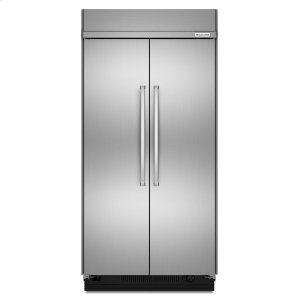 30.0 cu. ft 48-Inch Width Built-In Side by Side Refrigerator with PrintShield Finish - Stainless Steel with PrintShield™ Finish Product Image