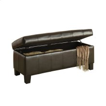 Lift-Top Storage Bench, Dark Brown