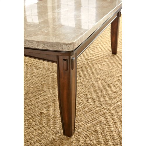 "Eileen White Marble Top Table 42"" x 72"" x 31"""
