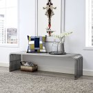 """Pipe 60"""" Stainless Steel Bench in Silver Product Image"""