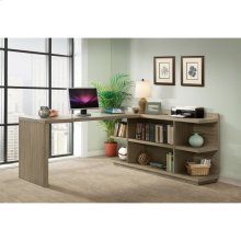 Perspectives - Return Desk - Sun-drenched Acacia Finish