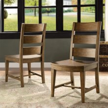 Hawthorne - Wood Seat Side Chair - Barnwood Finish