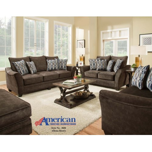 3850 - Athena Brown Loveseat
