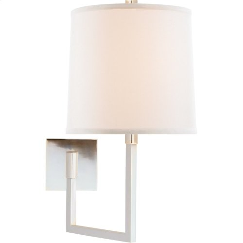 Visual Comfort BBL2029SS-L Barbara Barry Aspect 14 inch 100 watt Soft Silver Swing-Arm Wall Light
