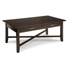 Demilune Rectangle Coffee Table With 2 Drawers