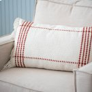 Red Clarke Fringe Pillow Product Image