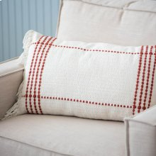 Red Clarke Fringe Pillow