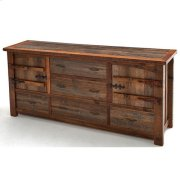 Heritage Frisco 2 Door 5 Drawer Server With Curved Doors Product Image