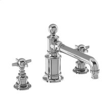 Arcade Widespread Basin Faucet with Cross Handles - Polished Chrome