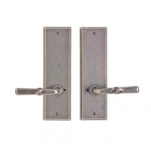 """Rectangular Privacy Set - 3"""" x 10"""" Silicon Bronze Brushed"""