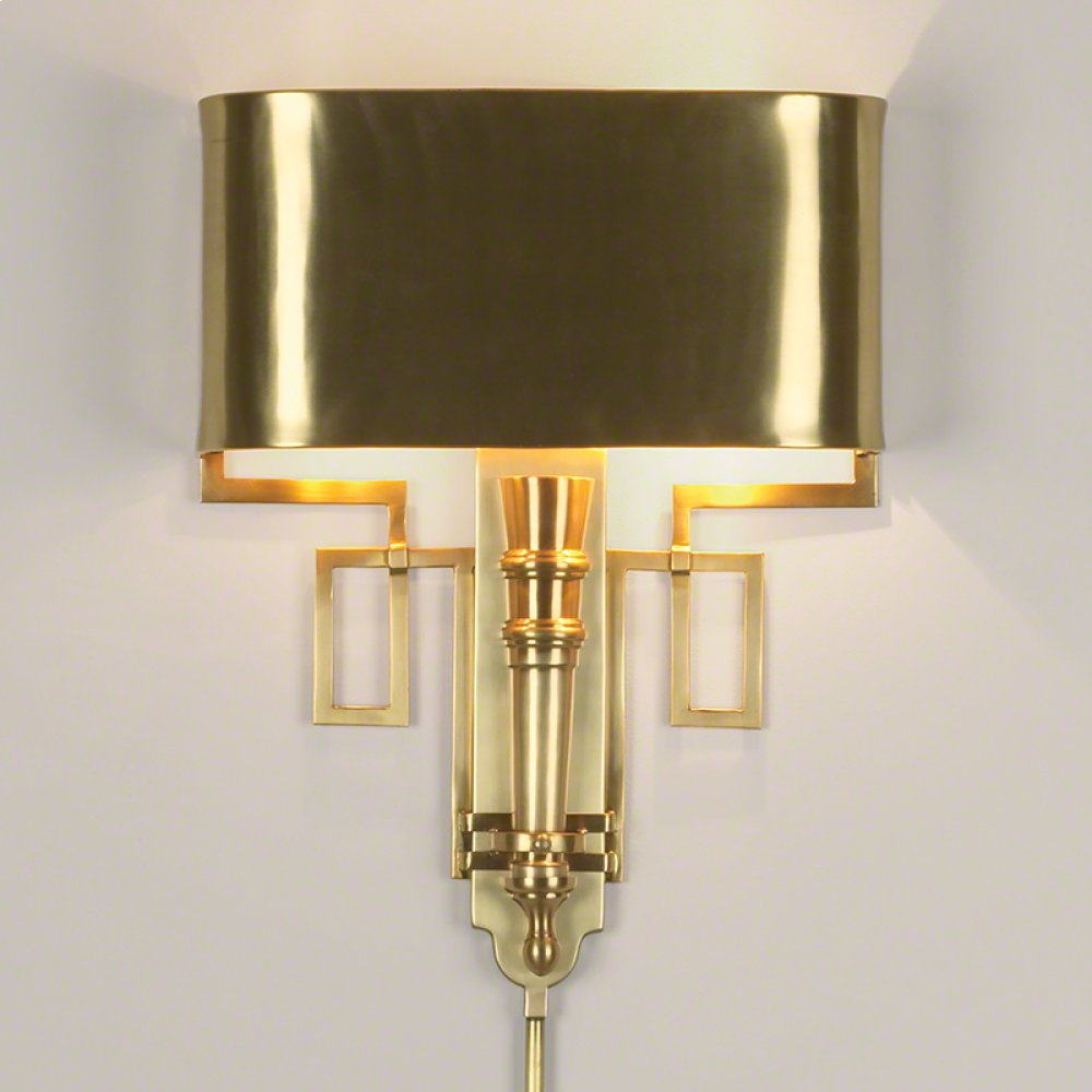 Torch Sconce-Antique Brass