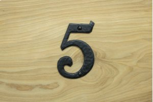 """5 Black 4"""" Mailbox House Number 450150 Product Image"""