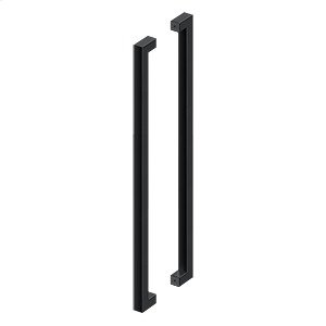 "42"" Extra Large Contemporary Pulls, Back-To-Back - Paint Black"