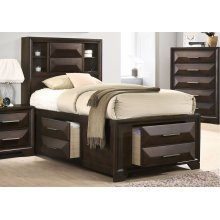 1035 Anthem Twin Storage Bed with Dresser & Mirror