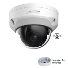 3MP Dome IP Camera with Junction Box, 2.7-12mm motorized lens, White Housing
