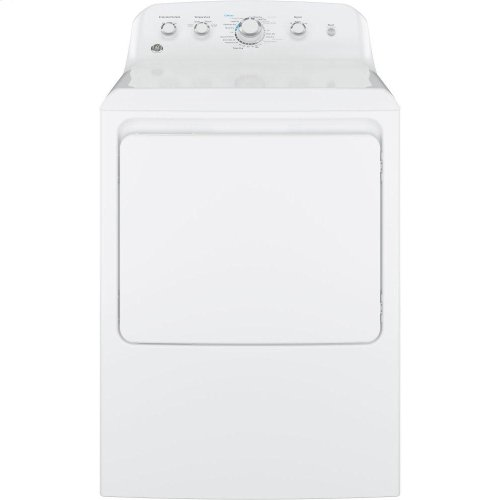 GE® 6.2 cu. ft. Capacity aluminized alloy drum Electric Dryer