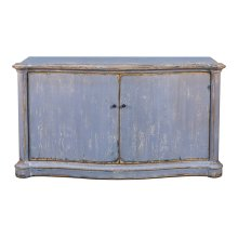 Columns Bowfront Sideboard, Blue