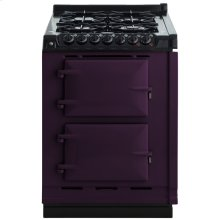 """AGA Module 24"""" Electric/Natural Gas Aubergine with Stainless Steel trim"""