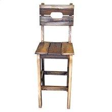 Wood Seat Slated Barstool
