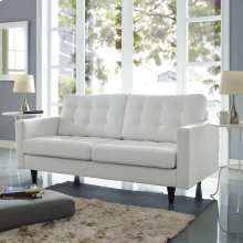 Empress Bonded Leather Loveseat in White