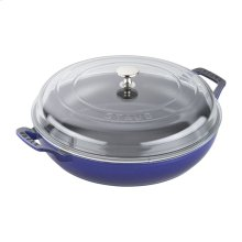 Staub Cast Iron 3.5-qt Braiser with Glass Lid, Dark Blue