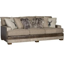 Casbah Leather/Fabric Sofa