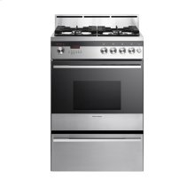 "Freestanding Dual Fuel Range, 24"", Self Cleaning"
