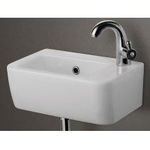 AB101 Small White Wall Mounted Ceramic Bathroom Sink Basin