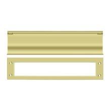 Mail Slot, HD - Polished Brass