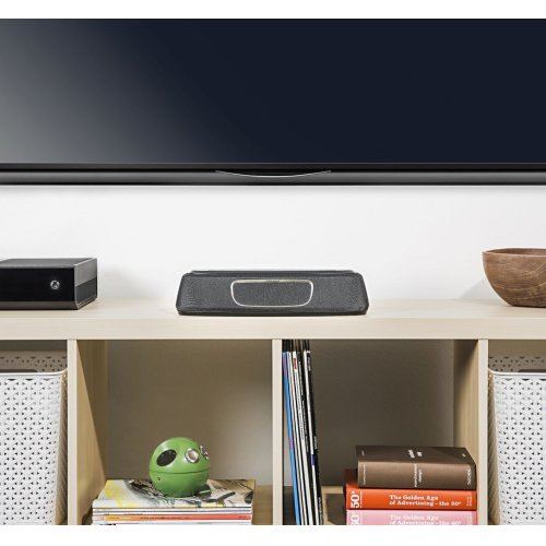 Ultra-Compact Home Theater Sound Bar System - Works with Google Assistant in Black