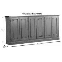"Bellagio Sideboard, 96"", Unfinished"