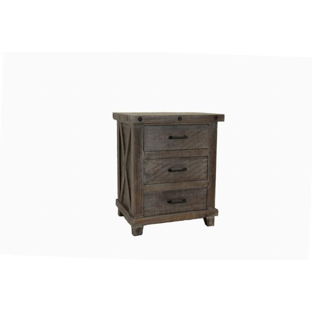 Stone Creek Industrial Nightstand