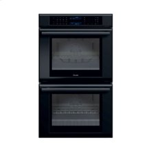 "30"" MASTERPIECE SERIES BLACK  DOUBLE OVEN WITH TRUE CONVECTION IN BOTH OVENS"