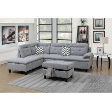 F6589 / Cat.19.p12- 3PCS SECTIONAL GREY