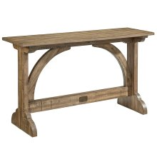 Salvage Barrel Vault Console Table
