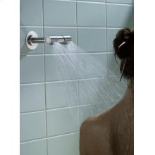 130 mm double head shower - Grey