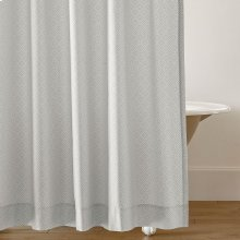 Diamond Lattice Shower Curtain, PEWTER, ONE