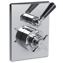 Concealed Godolphin pressure balance mixing valve with black lever 2-way diverter trim only, to suit M1-4101 rough
