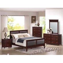 Espresso Finish Queen Size Bedroom Set